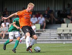 Jonathan Nielsen (FC Helsingør) under kampen i 2. Division Øst mellem Boldklubben Avarta og FC Helsingør den 19. august 2012 i Espelunden. (Foto: Claus Birch).