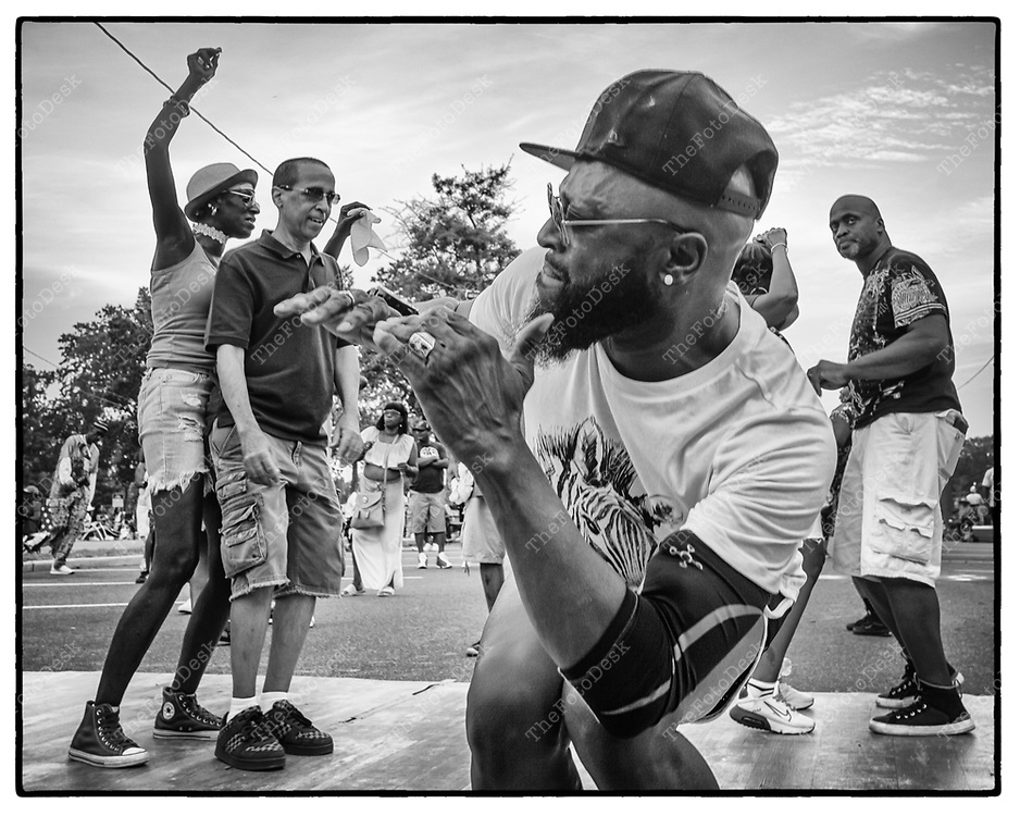 JERSEY CITY, NEW JERSEY:  Dancers at the Jersey City House Music Festival at Lincoln Park, in Jersey City, NJ. On Satuday, July 24, 2021. (Brian Branch-Price/TheFotodesk).