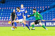 Cardiff City's Marlon Pack (21) in action during the EFL Sky Bet Championship match between Cardiff City and Birmingham City at the Cardiff City Stadium, Cardiff, Wales on 16 December 2020.