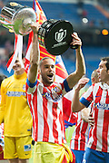 Mario Suarez holds up the Spanish Cup 2013