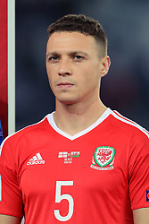 Wales' James Chester during the 2018 FIFA World Cup Qualifying, Group D match at the Boris Paichadze Dinamo Arena, Tbilisi. PRESS ASSOCIATION Photo. Picture date: Friday October 6, 2017. See PA story SOCCER Georgia. Photo credit should read: Tim Goode/PA Wire. RESTRICTIONS: Editorial use only, No commercial use without prior permission.