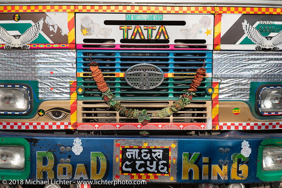 Typical Nepalese truck in Kathmandu after our Himalayan Heroes motorcycling adventure, Nepal. Saturday, November 17, 2018. Photography ©2018 Michael Lichter.