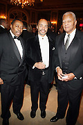 l to r: Fred L. Price, Jeff Burns and Judge Benard Jackson at The Fifth Annual Grace in Winter Gala honoring Susan Taylor, Kephra Burns, Noel Hankin and Moet Hennessey USA and benfiting The Evidence Dance Company held at The Plaza Hotel on February 3, 2009 in New York City.