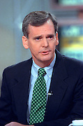 Senator Judd Greg discusses the situation in Kosovo during NBC's Meet the Press April 18, 1999 in Washington, DC.