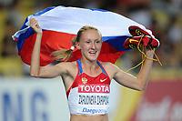 ATHLETICS - IAAF WORLD CHAMPIONSHIPS 2011 - DAEGU (KOR) - DAY 4 - 30/08/2011 - WOMEN 3000M FINAL - YULIYA ZARIPOVA (RUS) / WINNER - PHOTO : FRANCK FAUGERE / KMSP / DPPI