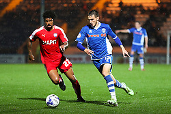 Scott Tanser of Rochdale takes on Rai Simons of Chesterfield  - Mandatory byline: Matt McNulty/JMP - 07966 386802 - 06/10/2015 - FOOTBALL - Spotland Stadium - Rochdale, England - Rochdale v Chesterfield - Johnstones Paint Trophy