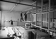 13/07/1967<br /> 07/13/1967<br /> 13 July 1967<br /> Interior of  computer room under construction at Arnotts on Henry Street, Dublin.
