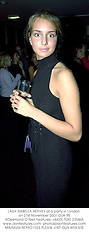 LADY ISABELLA HERVEY at a party in London on 21st November 2001.OUK 95