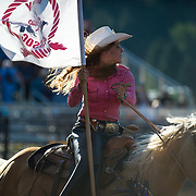 The Darby Rodeo Association colors at the Darby MT Elite Proffesionals Bull Riding Event July 7th 2017.  Photo by Josh Homer/Burning Ember Photography.  Photo credit must be given on all uses.