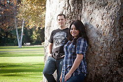 MONTCLAIR, CA - DECEMBER 20: Veronica Grant and Kyle Grant Portrait Photosesion in Montclair, California on December 20, 2011 (Photo by Jc Olivera)