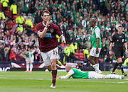 The William Hill Scottish FA Cup Final 2012 Hibernian Football Club v Heart Of Midlothian Football Club..19-05-12...Hearts Rudi Skacel celebratesscoring goal number 5 to make it 5-1        during the William Hill Scottish FA Cup Final 2012 between (SPL) Scottish Premier League clubs Hibernian FC and Heart Of Midlothian FC. It's the first all Edinburgh Final since 1986 which Hearts won 3-1. Hearts bid to win the trophy since their last victory in 2006, and Hibs aim to win the Scottish Cup for the first time since 1902....At The Scottish National Stadium, Hampden Park, Glasgow...Picture Mark Davison/ ProLens PhotoAgency/ PLPA.Saturday 19th May 2012.