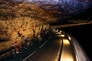 Illustration, Scenery, Peloton, Grotte du Mas d'Azil during the 105th Tour de France 2018, Stage 16, Carcassonne - Bagneres de Luchon (218 km) on July 24th, 2018 - Photo Luca Bettini / BettiniPhoto / ProSportsImages / DPPI