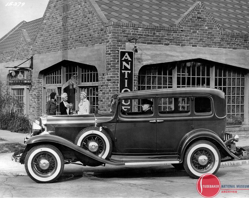 1932 Studebaker Commander five passenger sedan.