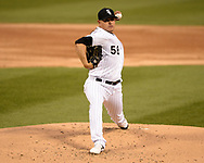 CHICAGO - APRIL 29:  Manny Banuelos #58 of the Chicago White Sox pitches against the Baltimore Orioles on April 29, 2019 at Guaranteed Rate Field in Chicago, Illinois.  (Photo by Ron Vesely)  Subject:   Manny Banuelos