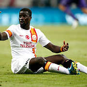 Galatasaray's Emmanuel Eboue during their friendly soccer match Galatasaray between ACF Fiorentina at the TT Arena in istanbul Turkey on Wednesday 08 August 2012. Photo by TURKPIX