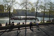 France. Paris. Seine river quays. Hotel de ville quays/ Quai de l'hotel de ville