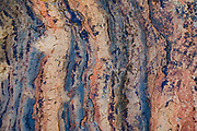 Colorful seaside rock patterns near Seal Rock State Recreation Site, on the Oregon coast, USA. We stayed at the adjacent Seal Rocks RV Cove.
