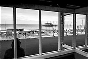 Brighton, Sussex, England. UK,  Monday,  11/10/2021, General Views, Derelict West Pier, Seafront Area, England's South coast, [Mandatory Credit: Pete SPURRIER].