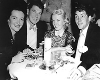 1952 Nancy Davis, Ronald Reagan, Jeanne Martin and Dean Martin at Ciro's nightclub