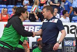 Nottingham Forest manager Aitor Karanka (left) shakes hands with Bolton Wanderers manager Phil Parkinson prior to kick-off