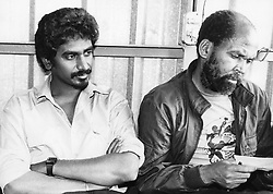 Jay Naidoo: former General Secretary of COSATU and chairman of the Development Bank of Southern Africa. Circa 1990s. Pic. Mbuzeni Zulu. © Sowetan