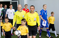 Referee Emir Aleckovic during the UEFA European Under-17 Championship Group A match between Iceland and Germany on May 7, 2012 in SRC Stozice, Ljubljana, Slovenia. Germany defeated Iceland 1-0. (Photo by Vid Ponikvar / Sportida.com)