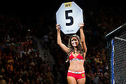 An Octagon Girl during UFC 189 at the MGM Grand Garden Arena in Las Vegas, Nevada on July 11, 2015. (Cooper Neill)