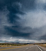 US 550 in NW New Mexico under a painted looking sky