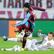 Trabzonspor's Gustavo COLMAN (L) during their UEFA Champions League group stage matchday 4 soccer match Trabzonspor between CSKA Moskva at the Avni Aker Stadium at Trabzon Turkey on Wednesday, 02 November 2011. Photo by TURKPIX