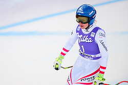 January 19, 2018 - Cortina D'Ampezzo, Dolimites, Italy - Christine Scheyer of Austria competes  during the Downhill race at the Cortina d'Ampezzo FIS World Cup in Cortina d'Ampezzo, Italy on January 19, 2018. (Credit Image: © Rok Rakun/Pacific Press via ZUMA Wire)