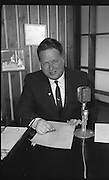 Micheal O Hehir, the sports commentator and journalist, during a TV appearance on Sportsview..10.05.1963