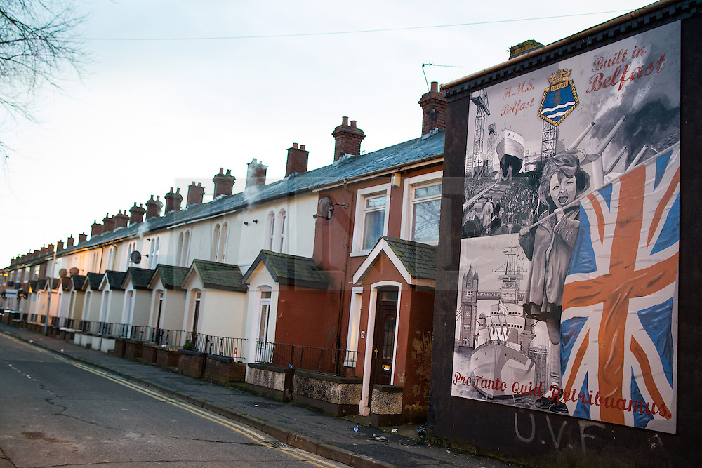© Licensed to London News Pictures . 09/01/2013 . Belfast , UK . Mural as seen in East Belfast today (9th January 2013) . Photo credit : Joel Goodman/LNP