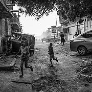 KHARTOUM, SUDAN - DECEMBER 14: Children play in the Al-Jerif neighborhood in Khartoum, Sudan on December 14, 2020. Byron Smith for Libération