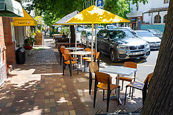 South Africa - Cape Town - 12 October 2020 - Empty restaurant tables seen in Stellenbosch. The hospitality industry in South Africa took a massive economic blow. Its one of the industries worst affected by the global Covid-19 pandemic.  Picture: Henk Kruger/African News Agency(ANA)