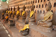 Vientiane, Laos. Wat Si Saket, the oldest Bhuddhist temple in Vientiane.