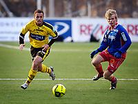 Fotball, Adecco-ligaen, 23.04.06, Tromsdalen - Moss<br /> Anders Juliussen (Moss) og Aleksander Samuelsen (Tromsdalen)<br /> Foto: Tom Benjaminsen, Digitalsport