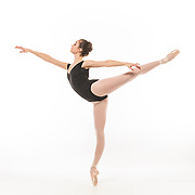 First arabesque audition photo for Rebecca Kelley