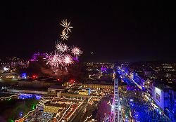 The 9pm fireworks from the Scott Monument. Edinburgh's Hogmanay 2019