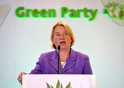 © Licensed to London News Pictures. 07/09/2012. Bristol, UK. Natalie Bennett, the new leader of the Green Party, speaking at the Green Party conference at the Council House in Bristol.  07 September 2012..Photo credit : Simon Chapman/LNP