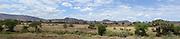 Kenya, Samburu National Park panoramic landscape as seen from the Simba lodge