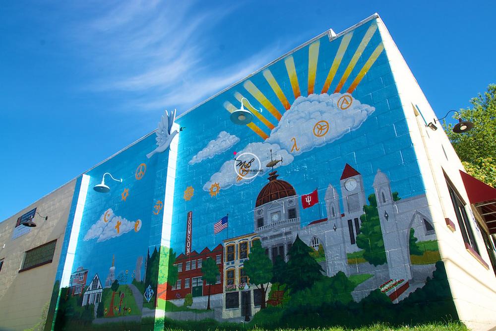 Bloomington City Scape Mural