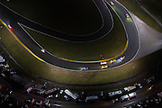January 26-29, 2017: Rolex Daytona 24. Daytona International Speedway at night during the 55th running of the Rolex 24. 4 Corvette Racing, Corvette C7.R, Oliver Gavin, Tommy Milner, Marcel Fassler,  3 Corvette Racing, Corvette C7.R, Antonio Garcia, Jan Magnussen, Mike Rockenfeller, 19 BMW Team RLL, BMW M6, Bill Auberlen, Alexander Sims, Augusto Farfus, Bruno Spengler,  5 Mustang Sampling Racing, DPi, Joao Barbosa, Filipe Albuquerque, Christian Fittipaldi, 46 EBIMOTORS, Lamborghini Huracan GT3, Emanuele Busnelli, Fabio Babini, Emmanuel Collard, Francois Perrodo, , BMW art car Daytona arial view from a cessna plane