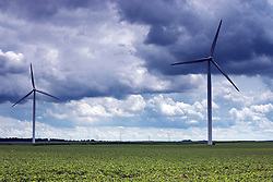 19 July 2009:  Twin Groves Wind Farm, operated by Horizon Wind Energy is east of Bloomington Normal on the Bloomington Moraine in eastern McLean County Illinois.  It is one of the largest wind farms in the world.