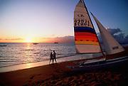 Couple on Beach, Kaanapali, Maui, Hawaii<br />