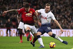 Tottenham Hotspur's Harry Kane attempts a shot
