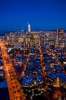 Embarcadero & Downtown San Francisco Skyline