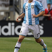 Federico Fernandez, Argentina, in action during the Brazil V Argentina International Football Friendly match at MetLife Stadium, East Rutherford, New Jersey, USA. 9th June 2012. Photo Tim Clayton