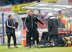 Ross County's manager Jim McIntrye over at the dug out after kicking a water bottle. Dundee 1 v 1 Ross County, SPFL Ladbrokes Premiership played 13/5/2017 at Dens Park.