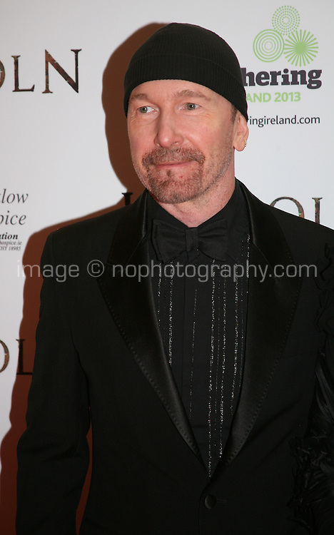 The Edge, at the Lincoln film premiere Savoy Cinema in Dublin, Ireland. Sunday 20th January 2013.