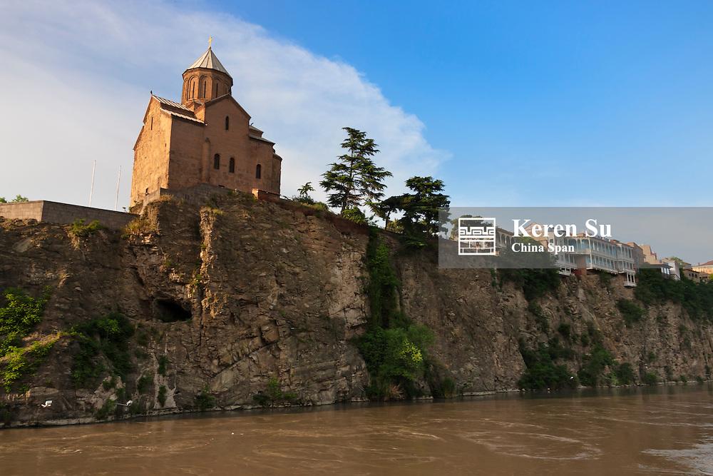 Metekhi Church by Mt'k'vari (Kura) River,Tbilisi, Georgia